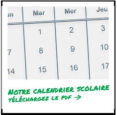 Téléchargez le calendrier scolaire au format PDF